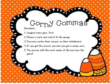 Corny Commas