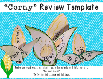 Corny Compound Words: Craftivity