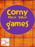 Corny Halloween Place Value Games