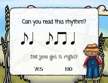 Corny Rhythms! Interactive Fall Rhythm Practice Game - Syncopa