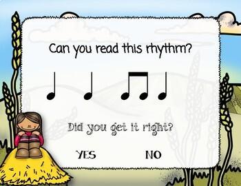 Corny Rhythms! Interactive Fall Rhythm Practice Game - Ta and Ti-ti