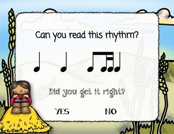 Corny Rhythms! Interactive Fall Rhythm Practice Game - Ti-tika