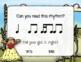 Corny Rhythms! Interactive Fall Rhythm Practice Game - Tika-ti