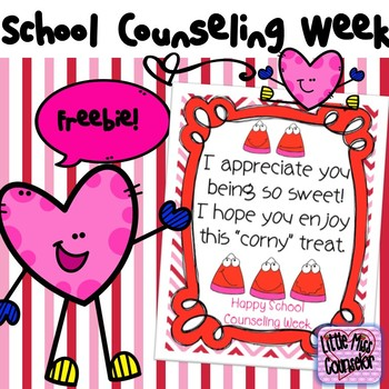 Corny Treat Poster for School Counselor Week Freebie