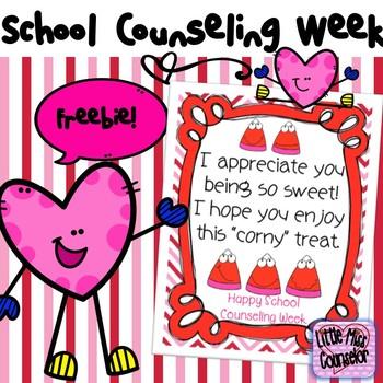 Corny Treat Poster for School Counseling Week Freebie