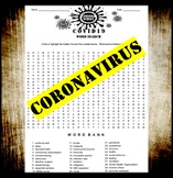Coronavirus - COVID 19 (WORD SEARCH)  (DISTANCE LEARNING)