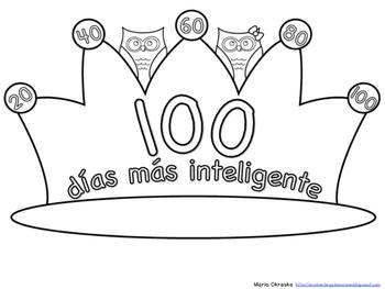 Corona para el día 100 de escuela