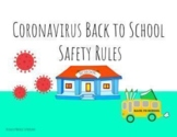 Coronavirus Back to School Safety  Rules and Interactive Quiz in Google Slides