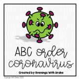 Coronavirus (COVID19) ABC Order Activity Printables
