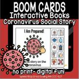 Coronavirus Covid 19 Interactive Book - Social Story - BOOM Cards Distance