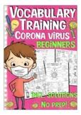 Coronavirus / Covid-19 vocabulary training -  English / ESL