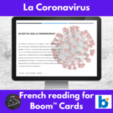 Coronavirus - reading in French - Boom Cards™ version