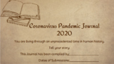 Coronavirus 2020 Journal - can be used for Distance Learning