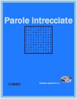 Corpo (Body in Italian) wordsearch