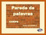 Corpo (Body in Portuguese) Word Wall