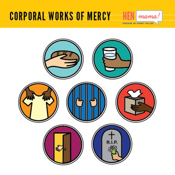 Corporal Works of Mercy Clip Arts