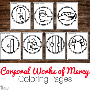 Corporal Works of Mercy Coloring Pages - No Prep Catholic Activities