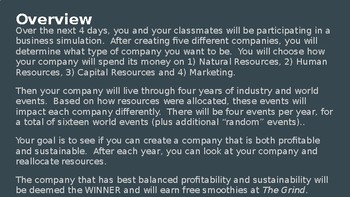 Corporate Conundrum Simulation - Building a Profitable AND Sustainable Company