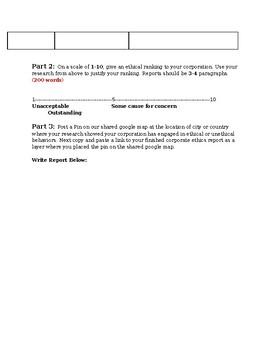 Corporate Ethics Report
