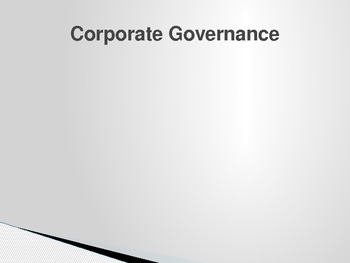 Corporate Governance; the complete guide