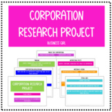 Corporation Guided Research Project and Presentation (for Business Ownership)