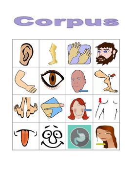 Corpus (Body in Latin) Bingo