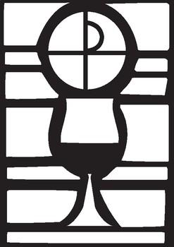 Corpus Christi Stained 'Glass' Window