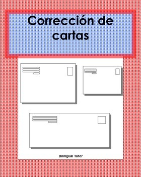 Spanish Editing/Corrección de cartas