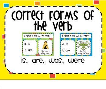 Correct Form of the Verb SMARTBoard Senteo Lesson