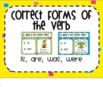 Correct Form of the Verb SMARTBoard Senteo Lesson