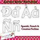 Alphabet Tracing letters: correct letter formation font clip art