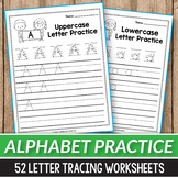 Correct Letter Formation, Alphabet Tracing Worksheets