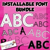 Tracing Fonts, Dot fonts, Pattern Fonts and more on this Growing Mega Bundle