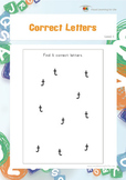 Correct Letters (Visual Perception Worksheets)
