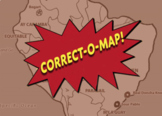 Correct-O-Map Geography Central and Land-Locked Asia Plus