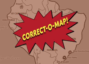 Correct-O-Map Geography South America