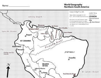 Correct-O-Map Geography South America — North Half