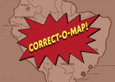 Correct-O-Map Geography Southern Africa and Islands