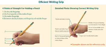 Correct Pencil Grip for Handwriting for Holding a Pencil