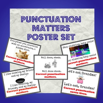 Correct Punctuation Matter Posters