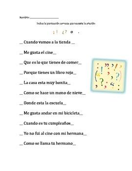 Correct Punctuation (Spanish)