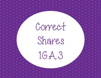 Correct Shares Fraction Activity 1.G.A.3