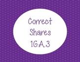 Correct Shares Fraction Activity 1.G.A.3