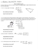 Correct The Mistake Activity - Right Triangle Review