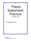 Correct The Thesis Statement Worksheet