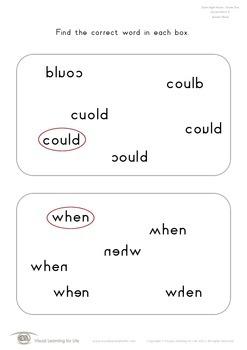 Correct Word (1st Grade)