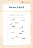 Correct Word (2nd Grade)