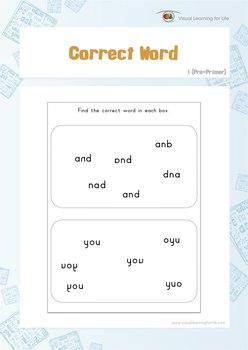 Correct Word (Pre-K)