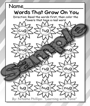 Correct Words and Ending Sounds Packet