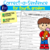 Correct-a-Sentence for Fourth Graders EDITABLE